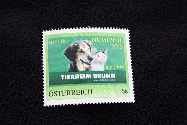 Briefmarke Tierheim Brunn