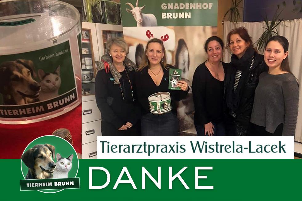 Danke der Tierarztpraxis Wistrela-Lacek